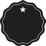 Black Star Icon Badge