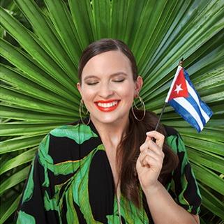 Girl with Cuban Flag